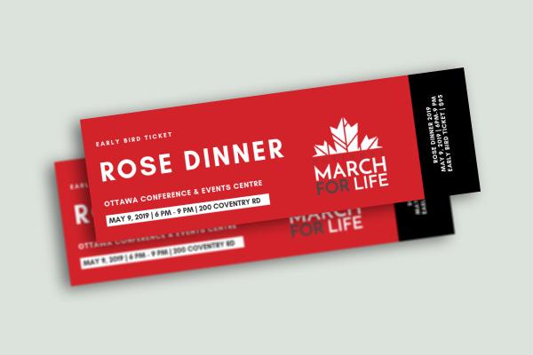 early bird rose dinner ticket