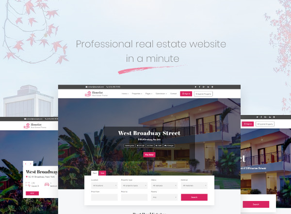 easy to use property management wordpress templates