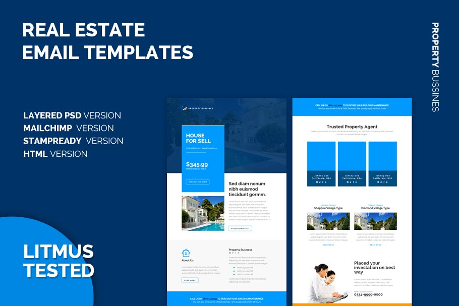 editable real estate email marketing template