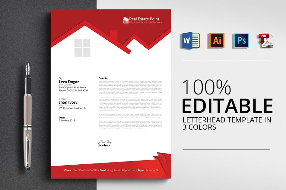 15  best real estate letterhead examples  u0026 templates