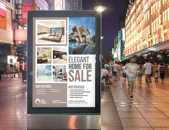 editable real estate poster
