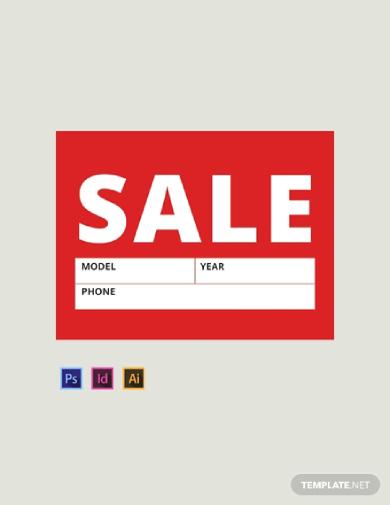 editable sale sign