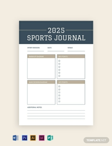 editable sports journal
