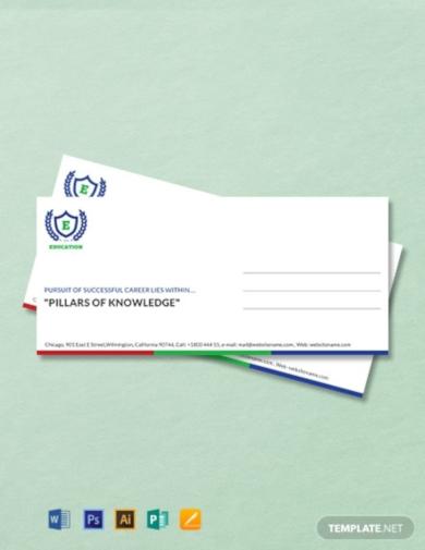 education envelope