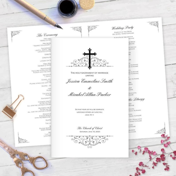 Wedding Program Example.5 Catholic Wedding Program Examples Templates Download