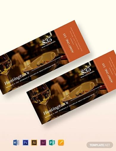 elegant dinner ticket