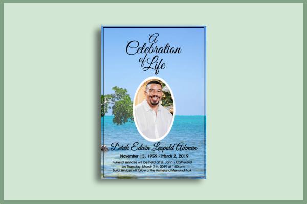 elegant funeral flyer