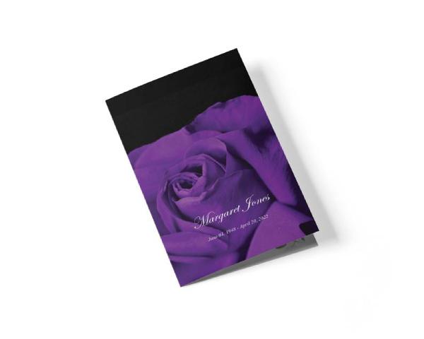elegant funeral leaflet