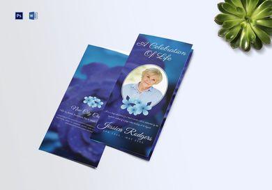 elegant funeral trifold brochure