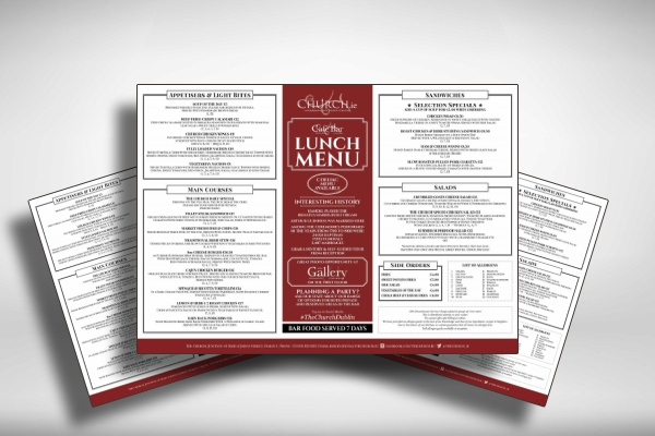 elegant lunch menu