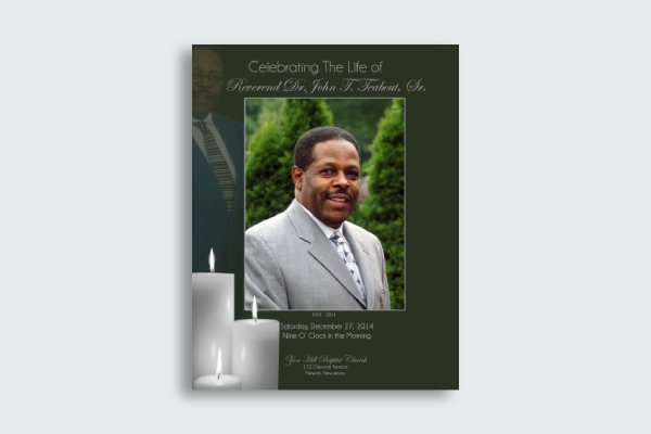 elegant obituary card design