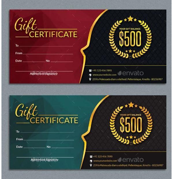 elegant real estate gift certificate template