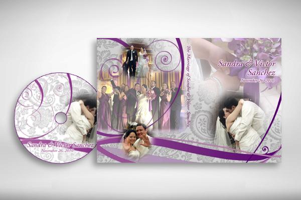 elegant wedding dvd cover