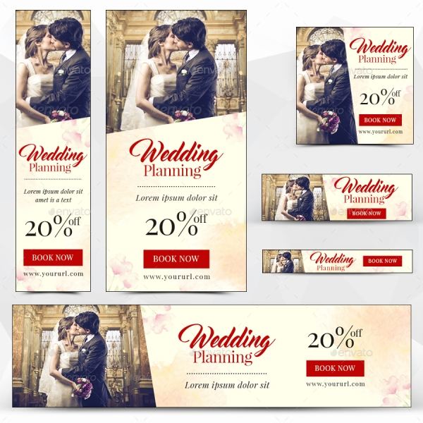 elegant wedding web banner