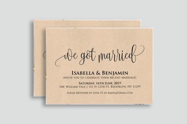 elopement wedding announcement