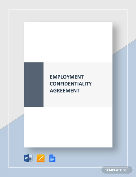 employment confidentiality agreement template 1