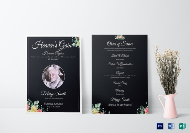eulogy funeral invitation card