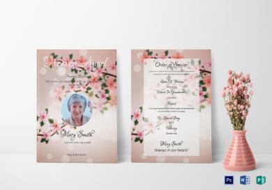 eulogy funeral invitation