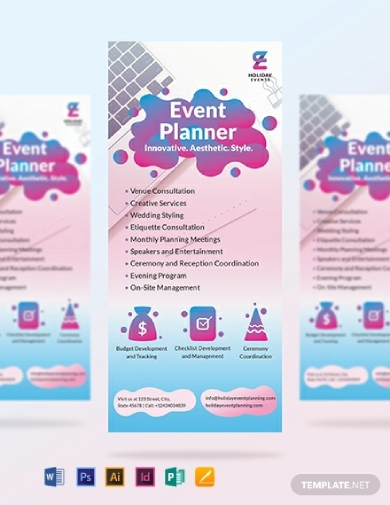event planner rack card