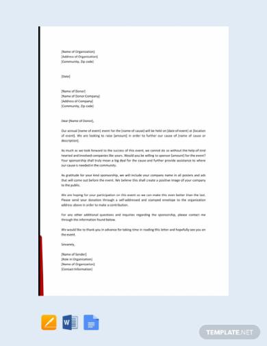 event sponsorship letter