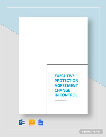 executive protection agreement change in control template