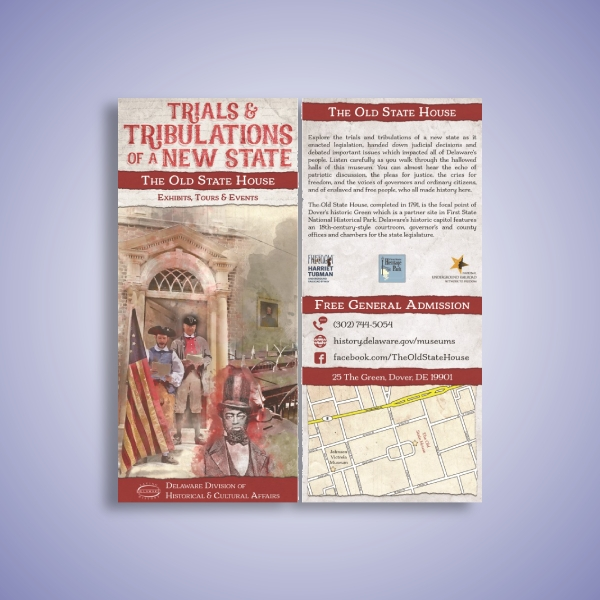 exhibits tours and events rack card
