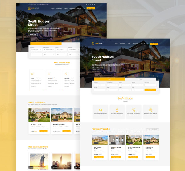 expert real estate listing wordpress theme