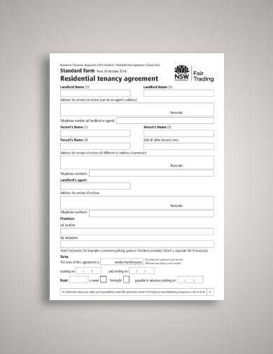 fair trading tenant lease agreement