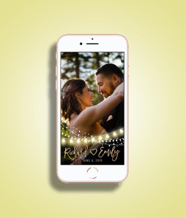 fairy lights wedding snapchat filter