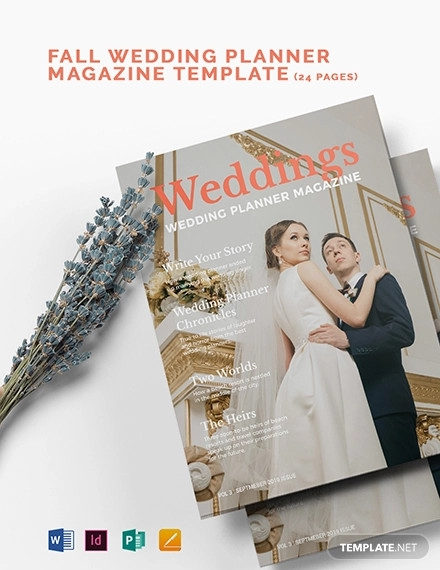 fall wedding planner magazine template