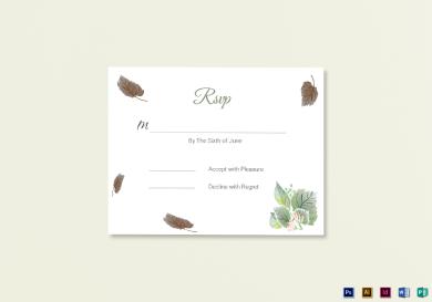 fall wedding rsvp card