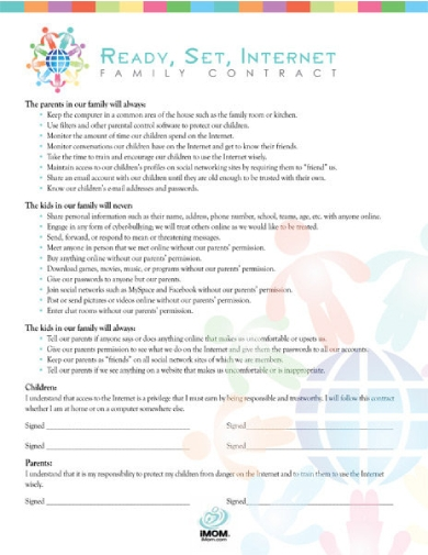 family internet contract