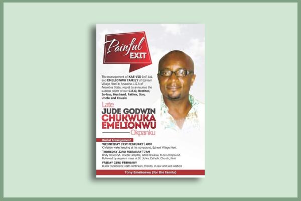 filmmaker funeral flyer