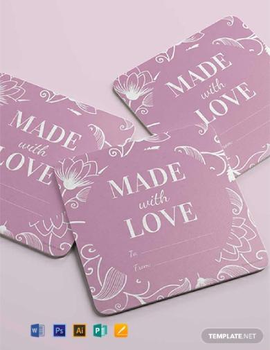 floral gift label