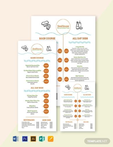 food price menu