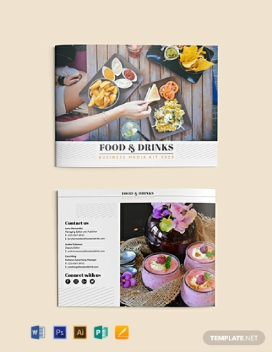 food and drink business media kit