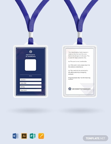 free blank real estate id card template