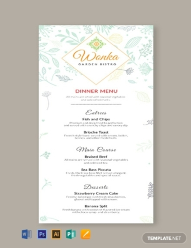 Dinner Menu Template Free from images.examples.com