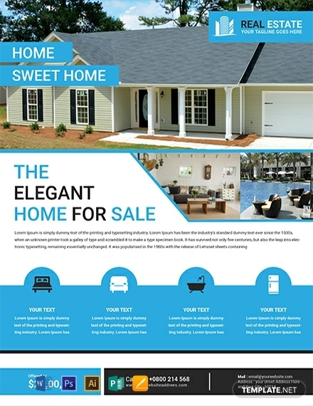 free elegant residential real estate flyer