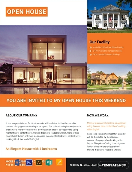 free luxurious house residential real estate flyer