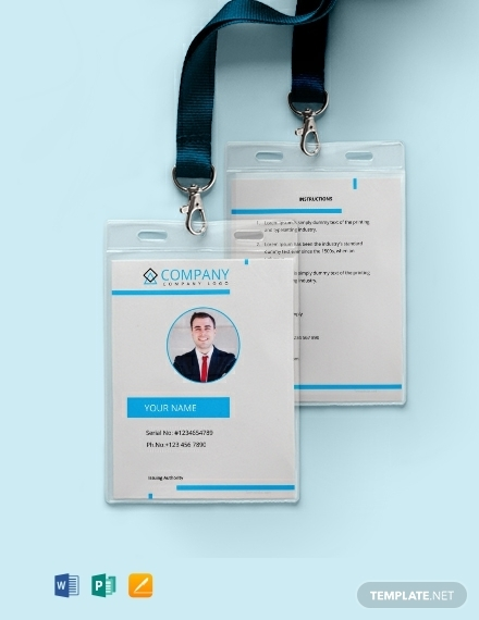 free modern real estate id card template
