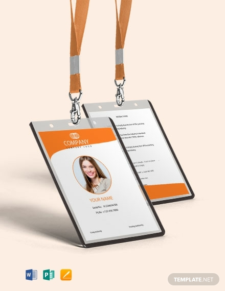 free professional real estate id card template