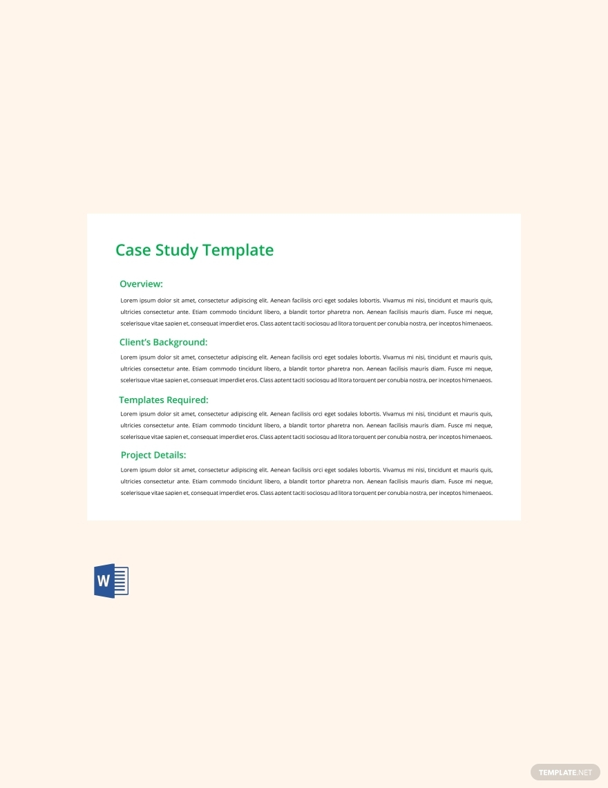 free real estate case study template
