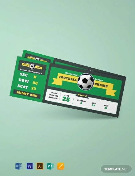 free sample football ticket template
