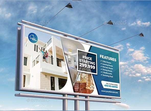 fully editable real estate billboard