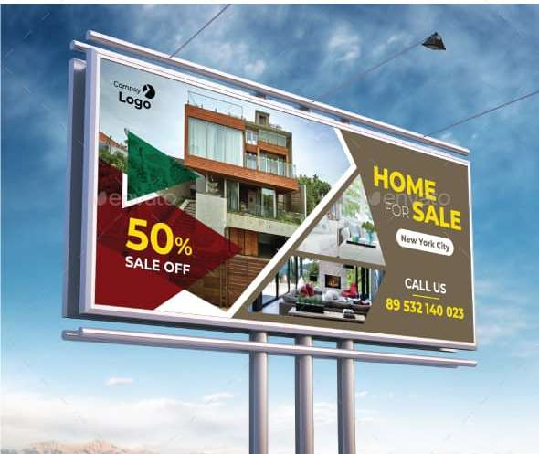 fully layered real estate billboard