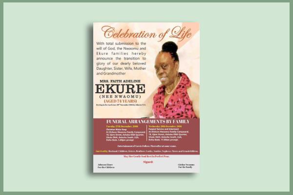 fundraiser funeral flyer