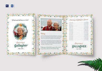 funeral a4 bi fold brochure
