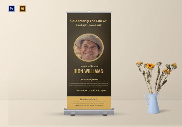 funeral announcement roll up banner1