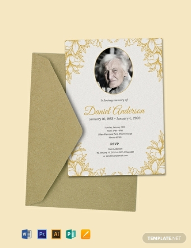 funeral ceremony invitation